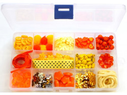 Zestaw kreatywny w pudełku - POMARAŃCZOWY