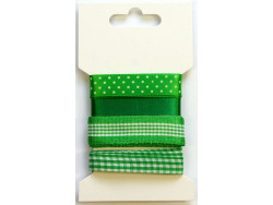Wstążki ozdobne - zielone 4m