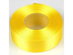 Wstążka satynowa 25mm - żółty cytrynowy