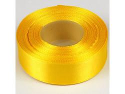 Wstążka satynowa 25mm - żółty