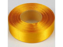 Wstążka satynowa 25mm - żółty ciemny