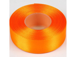 Wstążka satynowa 25mm - pomarańczowy intensywny