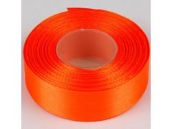 Wstążka satynowa 25mm - pomarańczowy ciemny