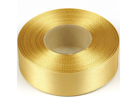 Wstążka satynowa 25mm - złota