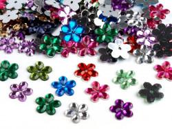 Kwiatki akrylowe 12mm MIX kolorów