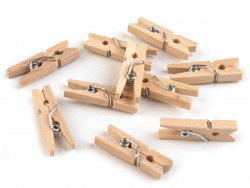 Drewniane klamerki mini, spinacze - 2szt