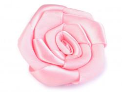 Róża satynowa 50mm różowa