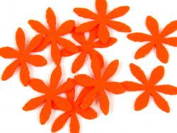 Aplikacja kwiatek z filcu pomarańczowa