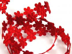 Aplikacje kwiatki 20mm - czerwone