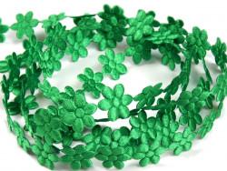 Aplikacje kwiatki 15mm - zielone