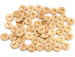Drewniane guziki - oponka, 15mm