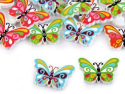 Guziki drewniane motylki