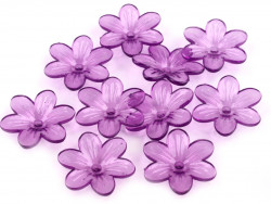 Kwiatki akrylowe 26mm fioletowe