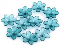 Kwiatki akrylowe 26mm morskie