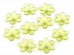 Kwiatki akrylowe 26mm zielone