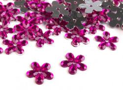 Kwiatki akrylowe 12mm amarantowe