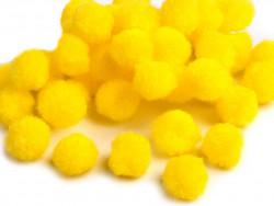 Pomponiki cytrynowe żółte 11mm - 20szt