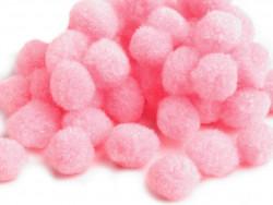 Pomponiki blado różowe 11mm - 20szt