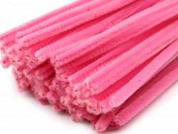 Druty kreatywne, wyciory jasne różowe 10szt.