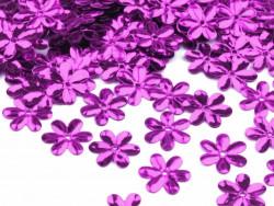 Cekiny kwiatki 15mm fioletowe