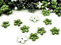 Kwiatki Akrylowe 12mm - oliwkowe