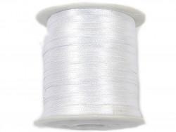 Wstążka satynowa 3mm - biała