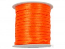 Wstążka satynowa 3mm - pomarańczowa ostra