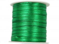 Wstążka satynowa 3mm - zielona jasna