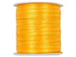 Wstążka satynowa 3mm rolka - zółta