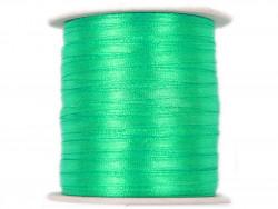 Wstążka satynowa 3mm rolka - zielona miętowa