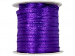 Wstążka satynowa 3mm rolka - fioletowa ciemna