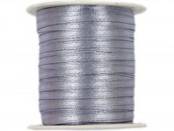 Wstążka satynowa 3mm rolka - szara srebrna