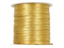 Wstążka satynowa 3mm rolka - złota