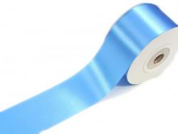 Wstążka satynowa 40mm - błękitna