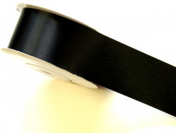Wstążka satynowa 50mm - czarna