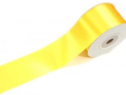 Wstążka satynowa 50mm - cytrynowa
