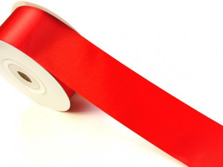 Wstążka satynowa 60mm - czerwona