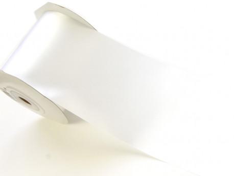 Wstążka satynowa 100mm - biała