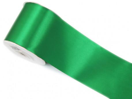 Wstążka satynowa 100mm - zielona