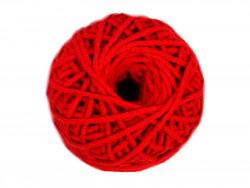 Sznurek bawełniany 3mm czerwony 50m