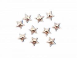Aplikacje gwiazdki 12mm srebrne