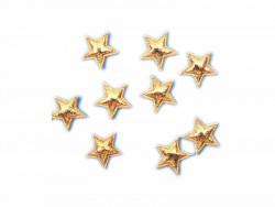 Aplikacje gwiazdki 12mm złote