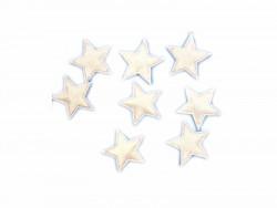Aplikacje gwiazdki 12mm białe