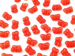 Koraliki motylki czerwone 5x9mm