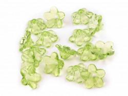 Kwiatki akrylowe 12mm zielone jasne