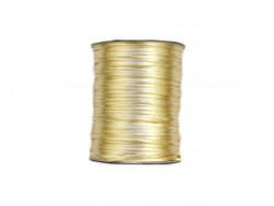 Sznurek satynowy 2mm złoty jasny
