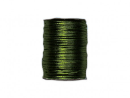 Sznurek satynowy 2mm zielony butelkowy