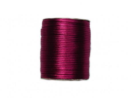 Sznurek satynowy 2mm różowy burgundowy