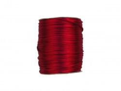 Sznurek satynowy 2mm czerwony ciemny