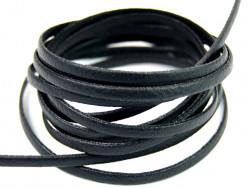 Rzemyk płaski 3mm czarny